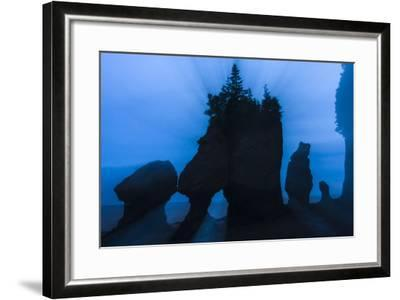 An Artistic Shot of the Hopewell Cape Rocks, Silhouetted at Dusk-Jonathan Irish-Framed Photographic Print
