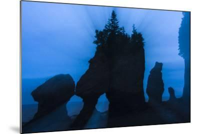 An Artistic Shot of the Hopewell Cape Rocks, Silhouetted at Dusk-Jonathan Irish-Mounted Photographic Print