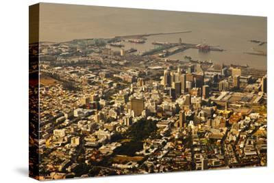 High Angle View of Cape Town-Ralph Lee Hopkins-Stretched Canvas Print