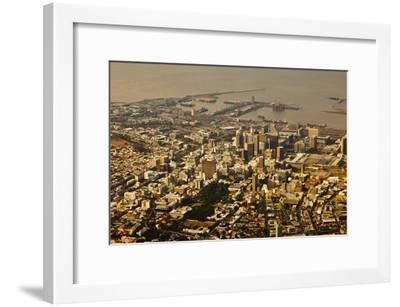 High Angle View of Cape Town-Ralph Lee Hopkins-Framed Photographic Print