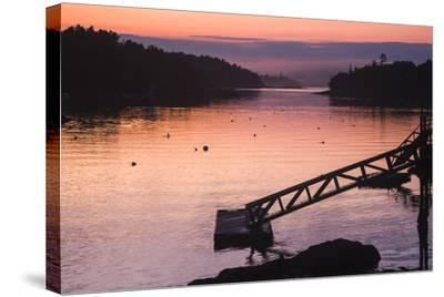 Pink and Purple Sunlight on the Water at Sunset-Jonathan Irish-Stretched Canvas Print