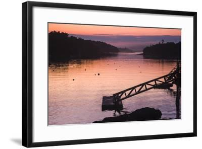 Pink and Purple Sunlight on the Water at Sunset-Jonathan Irish-Framed Photographic Print