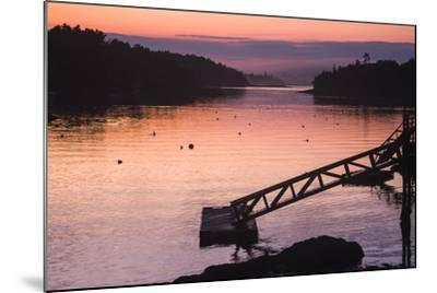 Pink and Purple Sunlight on the Water at Sunset-Jonathan Irish-Mounted Photographic Print
