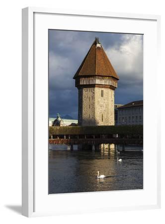 Chapel Bridge, Europe's Oldest Covered and the World's Oldest Truss Bridge-Jonathan Irish-Framed Photographic Print