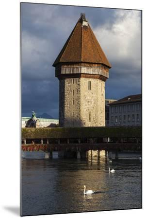 Chapel Bridge, Europe's Oldest Covered and the World's Oldest Truss Bridge-Jonathan Irish-Mounted Photographic Print