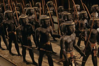 Wooden Nubian Archers from Tomb of Mesehti-Kenneth Garrett-Framed Photographic Print