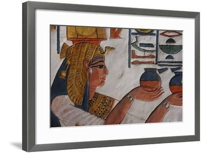 Queen Nefertari Making an Offering to Isis-Kenneth Garrett-Framed Photographic Print