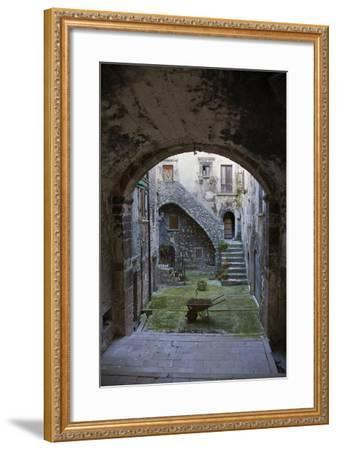 A Small Courtyard in the Hilltop Village of Santo Stefano Di Sessanio-Scott S^ Warren-Framed Photographic Print