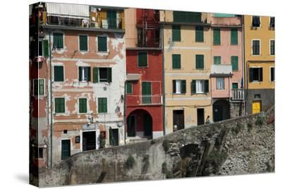 Buildings in Riomaggiore, One of Five Towns in the Cinque Terre-Scott S^ Warren-Stretched Canvas Print