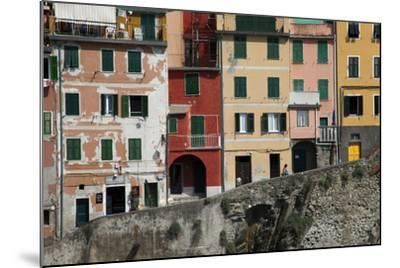 Buildings in Riomaggiore, One of Five Towns in the Cinque Terre-Scott S^ Warren-Mounted Photographic Print