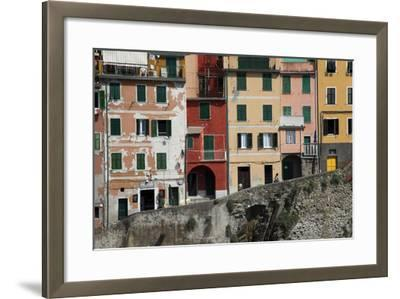 Buildings in Riomaggiore, One of Five Towns in the Cinque Terre-Scott S^ Warren-Framed Photographic Print