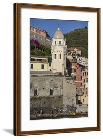 A Church in Manarola, One of Five Towns in the Cinque Terre-Scott S^ Warren-Framed Photographic Print