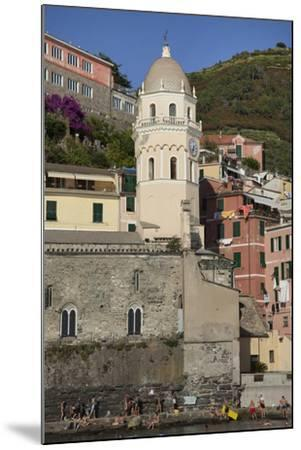 A Church in Manarola, One of Five Towns in the Cinque Terre-Scott S^ Warren-Mounted Photographic Print