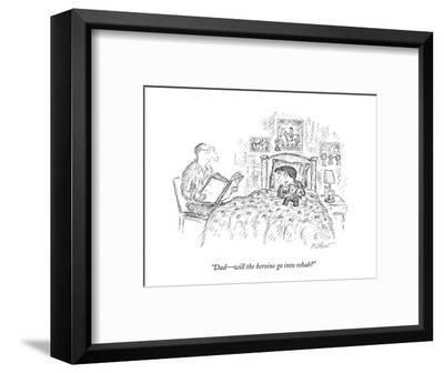 """Dad?will the heroine go into rehab?"" - New Yorker Cartoon-Edward Koren-Framed Premium Giclee Print"