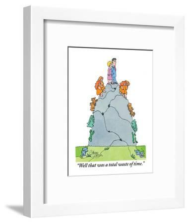Well, that was a total waste of time! - New Yorker Cartoon-Gahan Wilson-Framed Premium Giclee Print