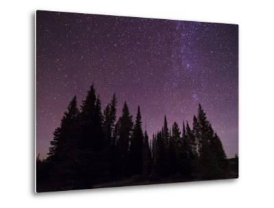 Night Sky over Bighorn Mountains-Mike Cavaroc-Metal Print