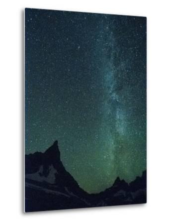 Milky Way over Glacier National Park, Montana.-Steven Gnam-Metal Print