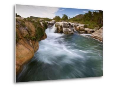 Dolan Falls Preserve, Texas:  Horizontal Landscape of the Dolan Falls During Sunset.-Ian Shive-Metal Print