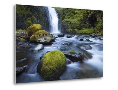 Seven Mile Falls, Eagle Creek, Oregon-Ethan Welty-Metal Print