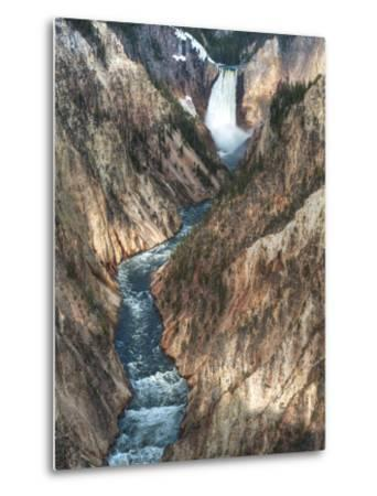 Lower Yellowstone Falls Is the Largest Falls in What Is Considered the Grand Canyon of Yellowstone.-Brad Beck-Metal Print