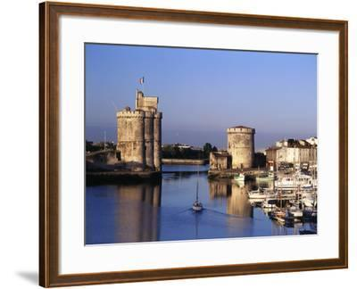 Boats, Vieux Port, Tour Saint-Nicolas, Tour De La Chaine, La Rochelle, France-David Barnes-Framed Photographic Print