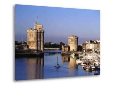 Boats, Vieux Port, Tour Saint-Nicolas, Tour De La Chaine, La Rochelle, France-David Barnes-Metal Print