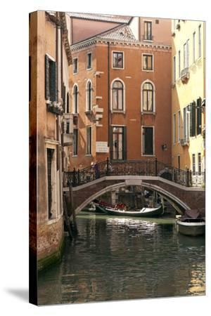 Small Bridge over a Side Canal in Venice, Italy-David Noyes-Stretched Canvas Print