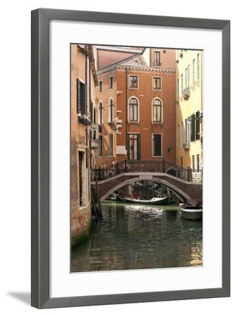 Small Bridge over a Side Canal in Venice, Italy-David Noyes-Framed Photographic Print