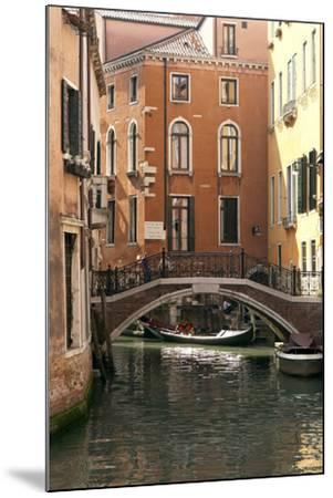 Small Bridge over a Side Canal in Venice, Italy-David Noyes-Mounted Photographic Print