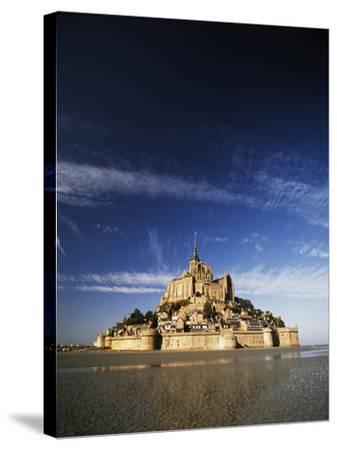 View of Mont Saint-Michel, Normandy, France-David Barnes-Stretched Canvas Print