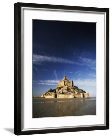 View of Mont Saint-Michel, Normandy, France-David Barnes-Framed Photographic Print