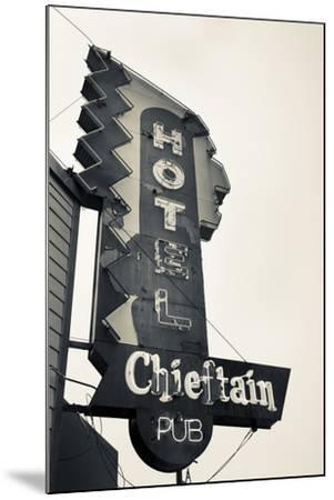 Neon Sign for the Chieftain Hotel and Pub, Squamish, British Columbia, Canada-Walter Bibikow-Mounted Photographic Print