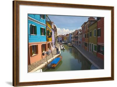 Bright Colored Homes Along the Canal, Burano, Italy-Terry Eggers-Framed Photographic Print