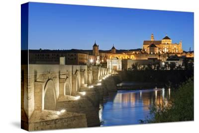 Roman Bridge, Catedral Mosque of Cordoba, Cordoba, Andalucia, Spain-Rob Tilley-Stretched Canvas Print