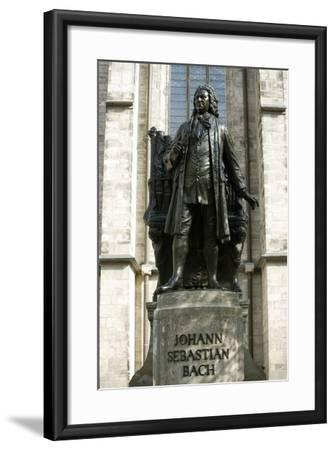 Statue of J. S. Bach on Grounds of St. Thomas Church, Leipzig, Germany-Dave Bartruff-Framed Photographic Print