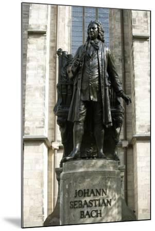 Statue of J. S. Bach on Grounds of St. Thomas Church, Leipzig, Germany-Dave Bartruff-Mounted Photographic Print