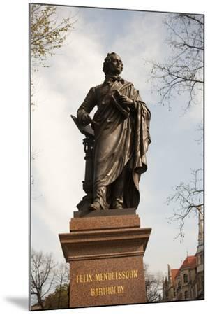 Statue of Felix Mendelssohn, St Thomas Church, Church of Bach, Leipzig, Germany-Dave Bartruff-Mounted Photographic Print