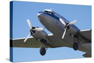 DC3 (Douglas C-47 Dakota), Airshow-David Wall-Stretched Canvas Print