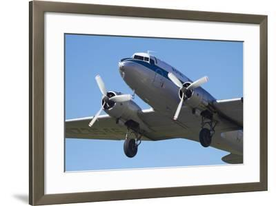 DC3 (Douglas C-47 Dakota), Airshow-David Wall-Framed Photographic Print