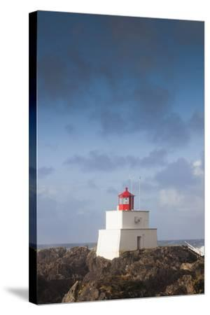 Wild Pacific Trail, Amphitrite Lighthouse, Vancouver Island, British Columbia, Canada-Walter Bibikow-Stretched Canvas Print