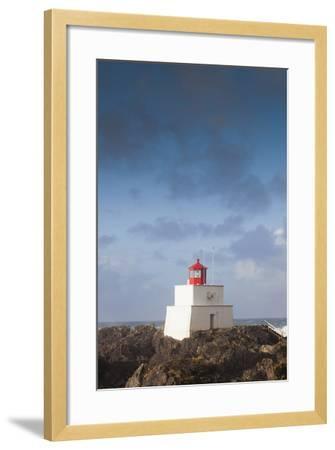 Wild Pacific Trail, Amphitrite Lighthouse, Vancouver Island, British Columbia, Canada-Walter Bibikow-Framed Photographic Print