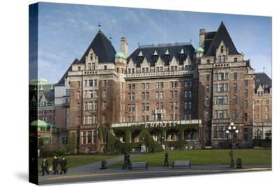 Fairmont Empress Hotel, Victoria, Vancouver Island, British Columbia, Canada-Walter Bibikow-Stretched Canvas Print