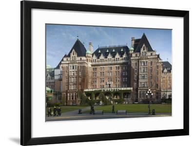 Fairmont Empress Hotel, Victoria, Vancouver Island, British Columbia, Canada-Walter Bibikow-Framed Photographic Print