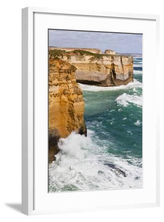 Coastline, Loch Ard Gorge, View Towards Elephant Rock, Great Ocean Road, Australia-Martin Zwick-Framed Photographic Print