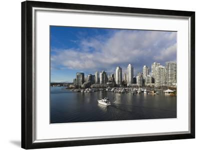 Buildings Along False Creek, Vancouver, British Columbia, Canada-Walter Bibikow-Framed Photographic Print