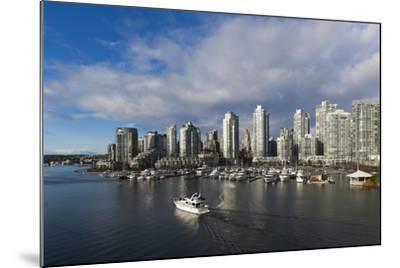 Buildings Along False Creek, Vancouver, British Columbia, Canada-Walter Bibikow-Mounted Photographic Print