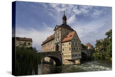 Old Town Hall, Altes Rathaus, Bamberg, Germany-Jim Engelbrecht-Stretched Canvas Print