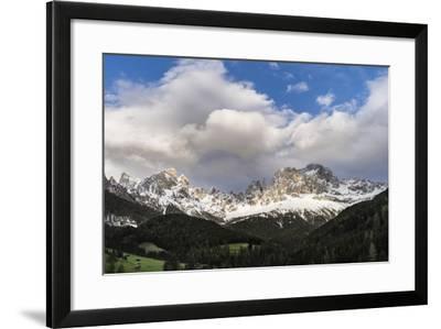 Rosengarten or Catinaccio Mountains, Schlern-Rosengarten, Dolomites, Italy-Martin Zwick-Framed Photographic Print
