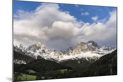 Rosengarten or Catinaccio Mountains, Schlern-Rosengarten, Dolomites, Italy-Martin Zwick-Mounted Photographic Print