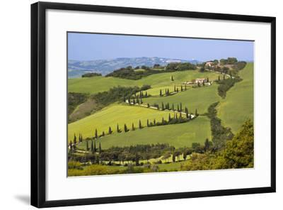 Famous Road Winding Through the Tuscan Hillside, Italy-Terry Eggers-Framed Photographic Print